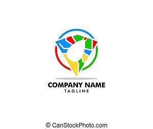 Flea Animal Design Logo Vector