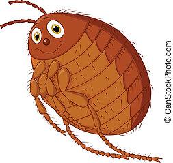 Flea cartoon  - Vector illustration of Flea cartoon