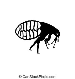 flea icon insect logo