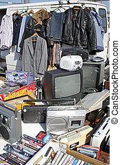 Flea market - Items for sale at open air market, Brighton