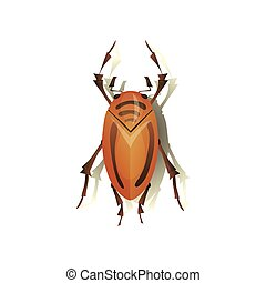 Flea on white background. Vector flat illustration.