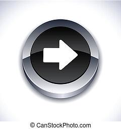 flecha, 3d, button.