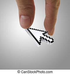 flecha, cursor