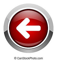 flecha izquierda, icono