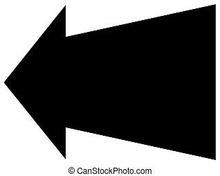flecha negra