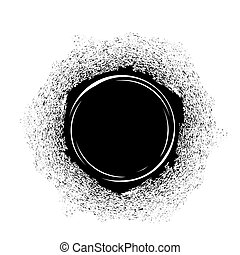 fleck, schwarze tinte