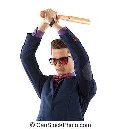fledermaus, mann, baseball, klage
