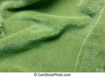 fleece, pelúcia, verde, t, macio, texture.