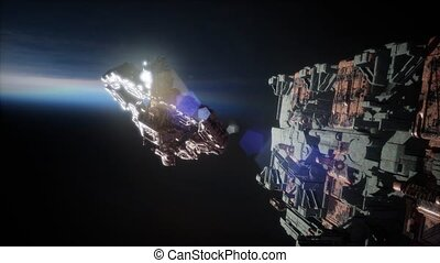 Fleet of Massive Spaceships Known as Motherships Taking...