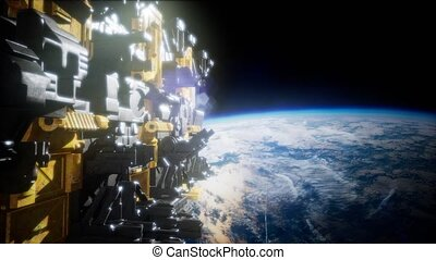 motherships taking position over Earth for a coming invasion...