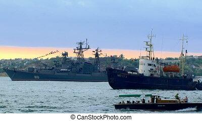 Fleet  - Parade of the Navy.