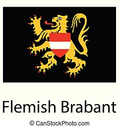 Vector flag Flemish Brabant province of Flanders Belgium region
