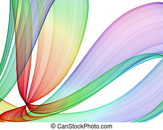 flerfärgad, abstrakt, formande