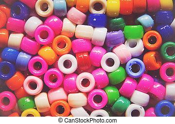 flerfärgad, exponeringsglas pryder med pärlor, bakgrund