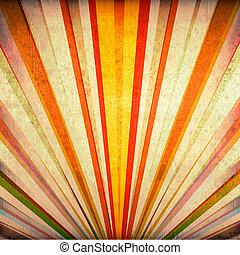 flerfärgad, grunge, solstrålar, bakgrund