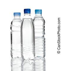 fles, dring, plastic, water