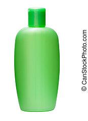fles, shampoo, vrijstaand
