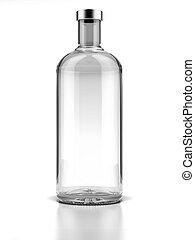 fles, van, wodka