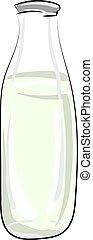 fles, water, vector, achtergrond., illustratie, witte