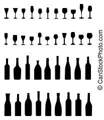 flessen, bril