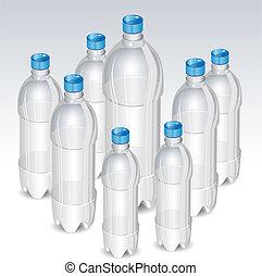 flessen, plastic