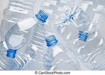 flessen, restafval, plastic