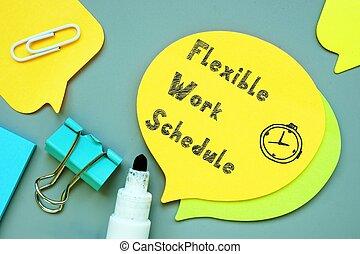 flessibile, concetto, carriera, iscrizione, page., lavoro, circa, orario