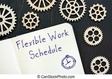 flessibile, concetto, carriera, iscrizione, sheet., lavoro, circa, orario