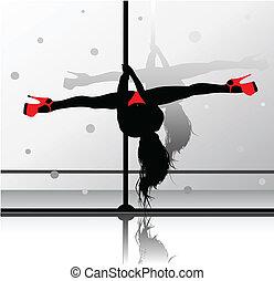flessibile, ragazza, ballo