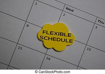 flessibile, scrivere, concetti, promemoria, orario, calendar., o