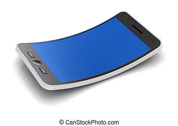 flessibile, smartphone, render, 3d