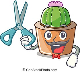 fleur, étoile, caractère, coiffeur, cactus, dessin animé