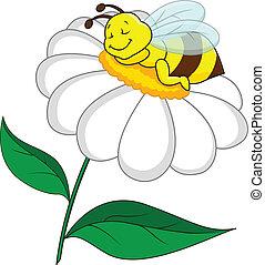 fleur, abeille, dormir