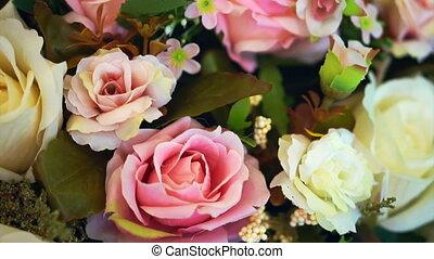 fleur, arrière-plans, mariage, rose