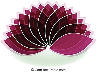 fleur, art, lotus, symbole, conception, logo