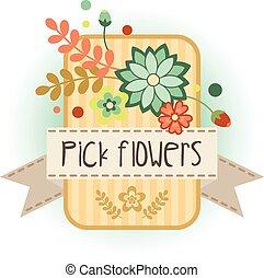 fleur, bannière, 4