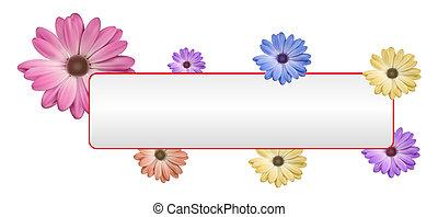 fleur, bannière