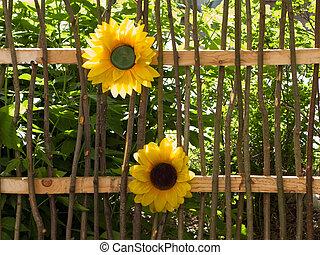 fleur, barrière, wih