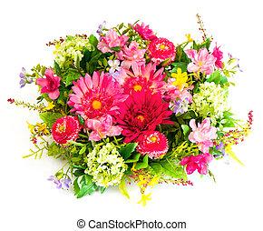 fleur blanche, coloré, arrangement