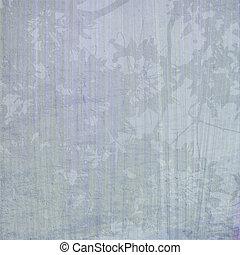 fleur bleue, impression, fond, textured