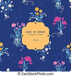 fleur, bouquets, modèle, cadre, seamless, fond, frais