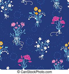 fleur, bouquets, modèle, seamless, fond, frais
