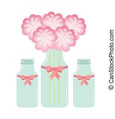 fleur, bouteille