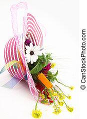 fleur, chapeau, bouquet