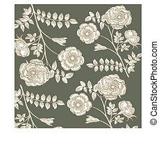 fleur, classique, wall-paper