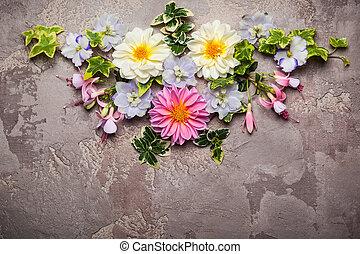 fleur, composition