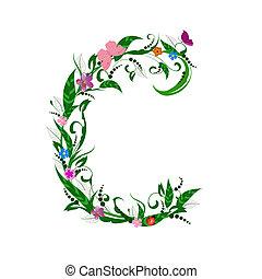 fleur, couverture, lettre