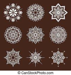 fleur, décoratif, géométrique
