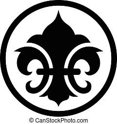 fleur de απάνεμη πλευρά , σύμβολο