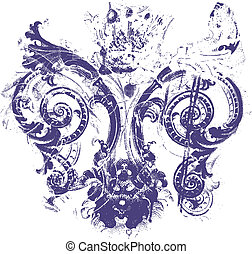 fleur de lis background texture